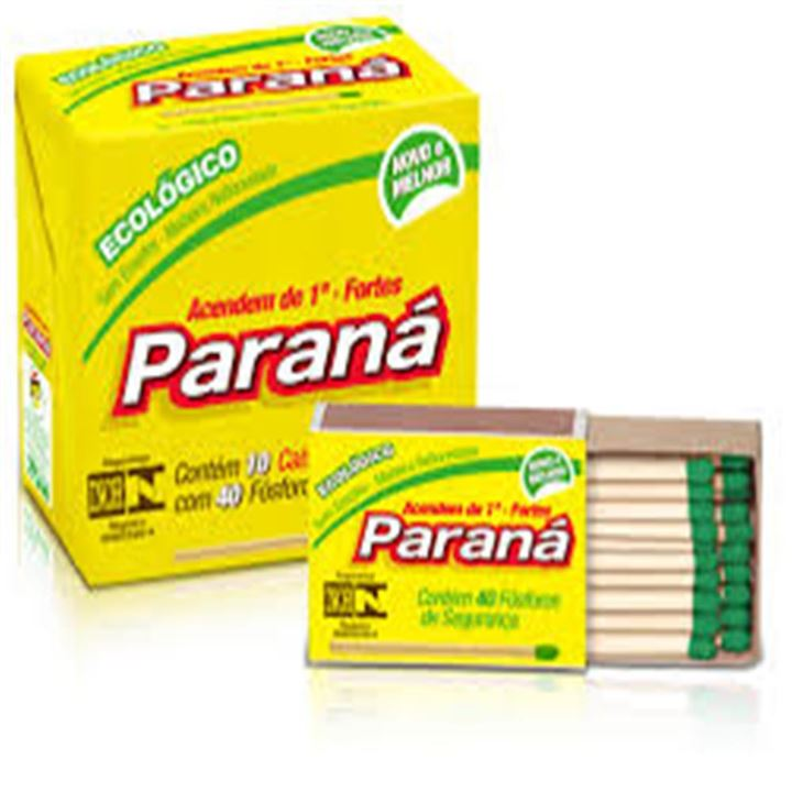 Fosforo Amarelo Cartolina Paraná 20x10x40un