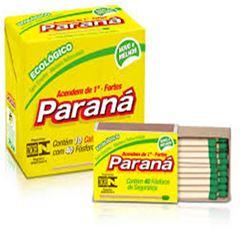 Fosforo Amarelo Cartolina Paraná 20x10x40Unidades
