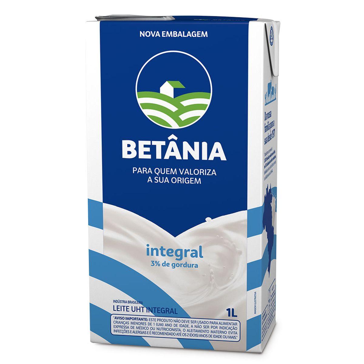 LEITE UHT BETANIA INTEGRAL 12X1L