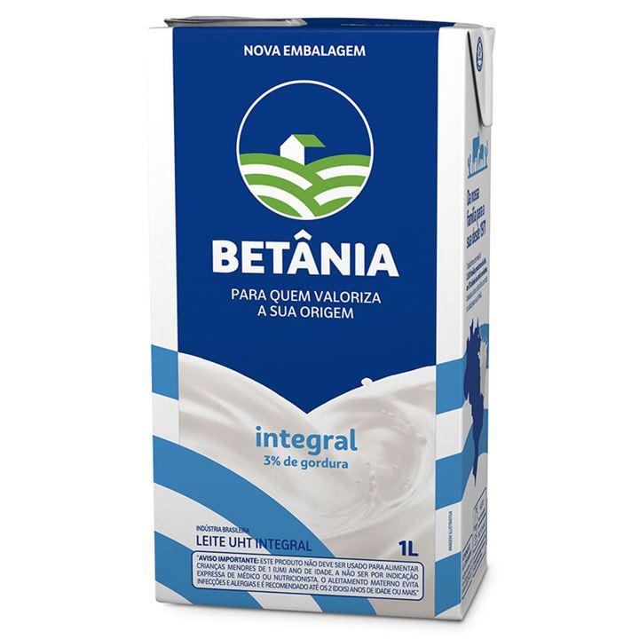 Leite Integral Uht Betânia Caixa 12x1 Litro