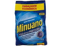Detergente em Pó Minuano Ação Profunda Sache Pacote 10x1,8kg