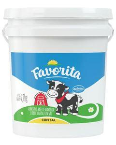 Manteiga Comum Com Sal Natural Da Vaca 4,7kg Balde