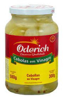Cebolas em Conserva Vidro Oderich Caixa 15x300g