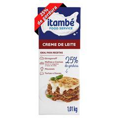 Creme de Leite 25% Cartonado Itambé Caixa 1,01kg