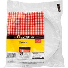 Prato Plásticos Copobras Raso 21cm Branco PS Caixa Com 50x10un