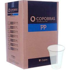 Copos Plásticos Copobras 200ml Transparentes PP Caixa Com 25x100un