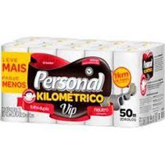 Papel Higiênico Personal Folha Dupla Vip Kilometrico Neutro 3X20X50 Metros