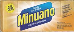 Sabão Barra Poder Glicerinado Amarelo Minuano 20x5x200g