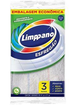 Esfregão Limppano Branco Grande Pacote 6x3 Unidades