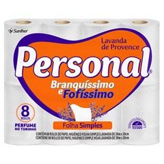 Papel Higiênico Personal Folha Simples Lavanda Fardo 8X8X30 Metros
