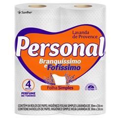 Papel Higiênico Personal Folha Simples Lavanda Fardo 15X4X30 Metros