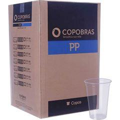 Copos Plásticos Copobras 180ml Transparentes PP Caixa Com 25x100un