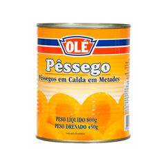 Pêssego Metade Olé Unidade 450g