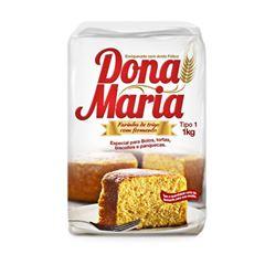 Farinha Trigo Com Fermento Dona Maria 10x1kg