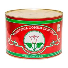 Manteiga Comum Com Sal Copo De Leite 5kg